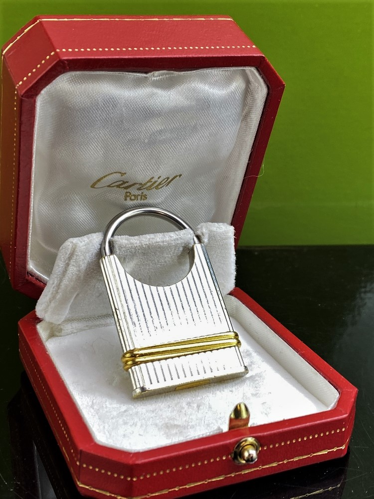 Cartier Vintage Two-Toned Key Ring / Padlock Edition - Image 4 of 4