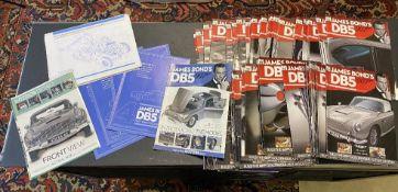 DE Agostini James Bond 007 DB5 collection of Blueprints, Manuals & Magazines