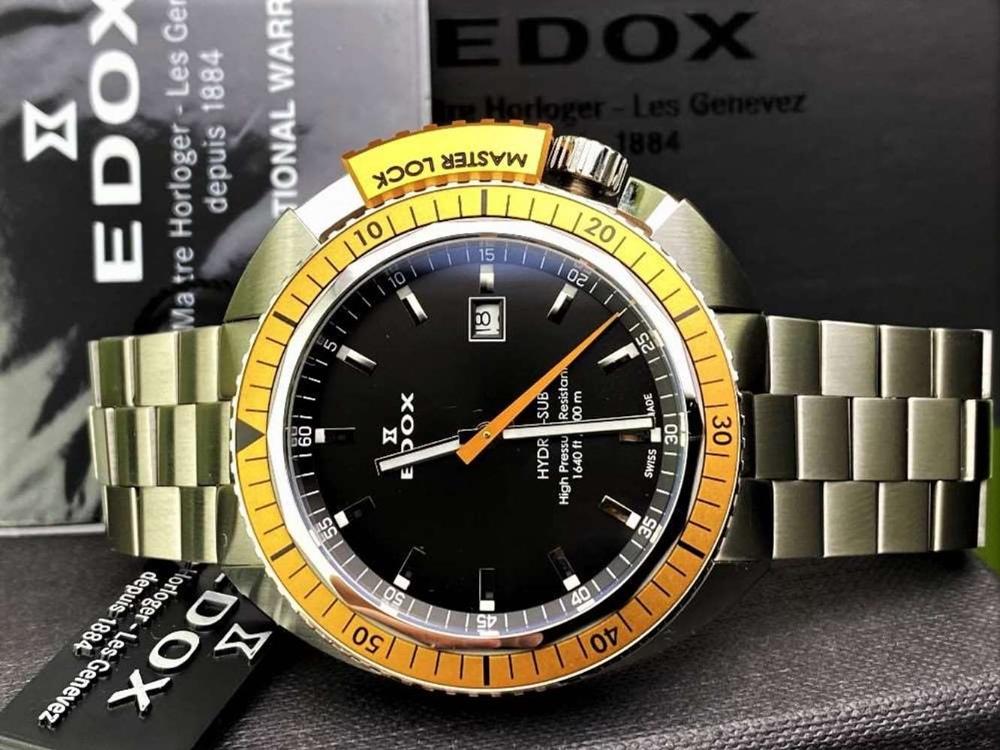 Edox Hydro Sub Mens Swiss Quartz 500m Dive Watch - Image 11 of 11