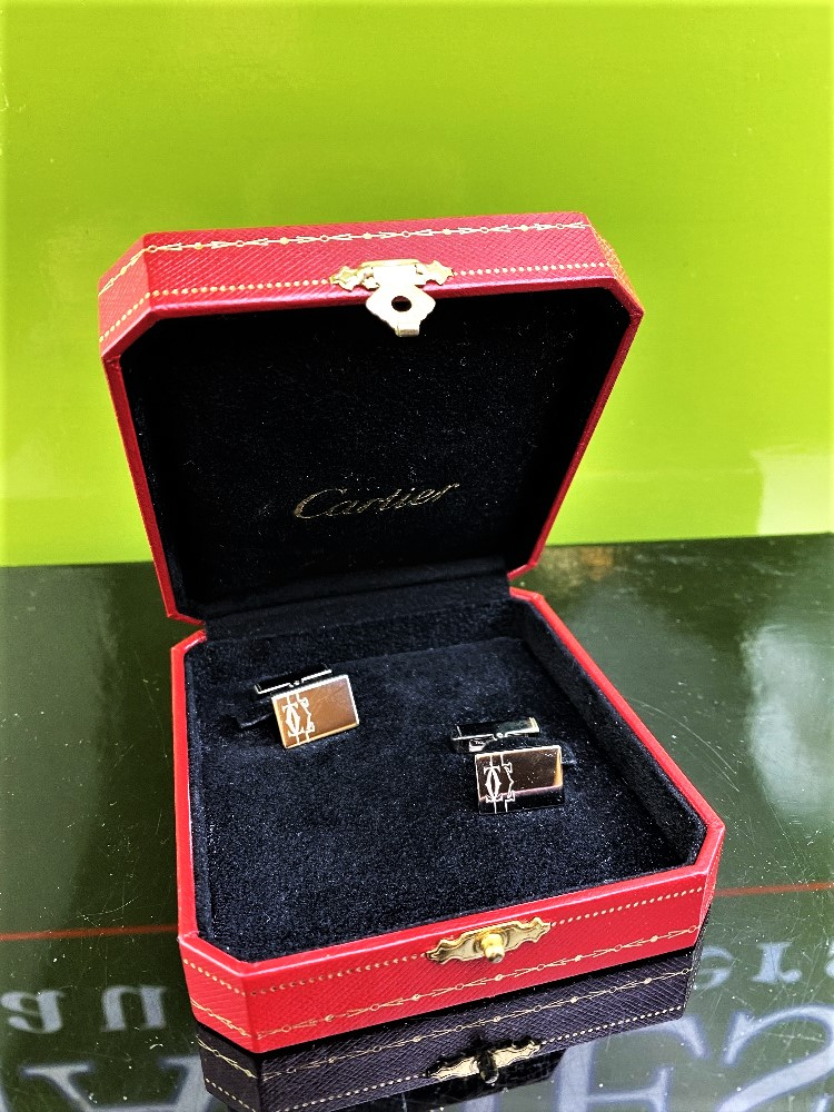 Cartier 925 Sterling Silver Cufflinks-Ex Display - Image 4 of 4