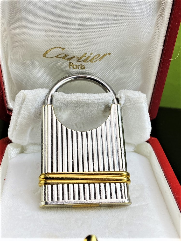 Cartier Vintage Two-Toned Key Ring / Padlock Edition - Image 3 of 4