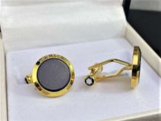 Montblanc Meisterstuck Gold Plated & Onyx Cufflinks