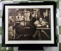 Captain Scott Antartic Cabin Silk Canvas Print Framed