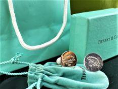 Tiffany Cufflinks 925 Silver Hallmarked- Please Return To Tiffany and Co, New York