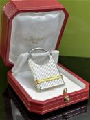Cartier Vintage Two-Toned Key Ring / Padlock Edition