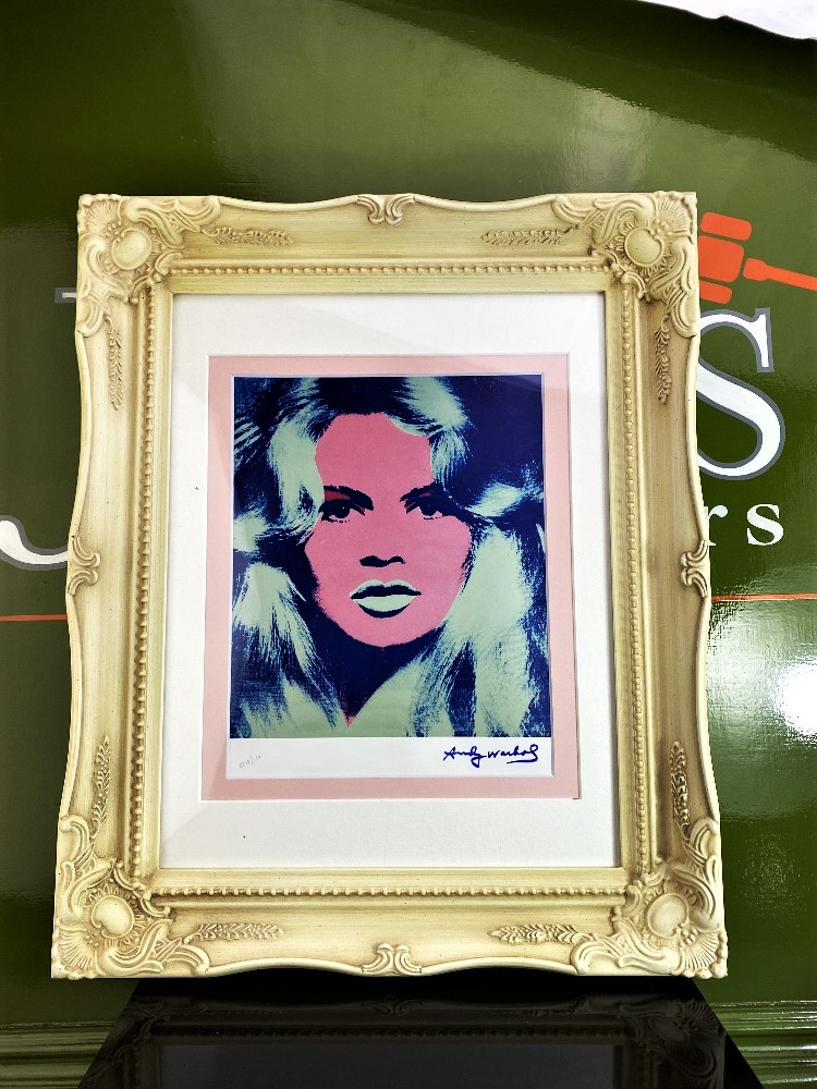 "Andy Warhol 1984 ""Brigitte Bardot"" Lithograph Ltd Edition - Image 3 of 3"