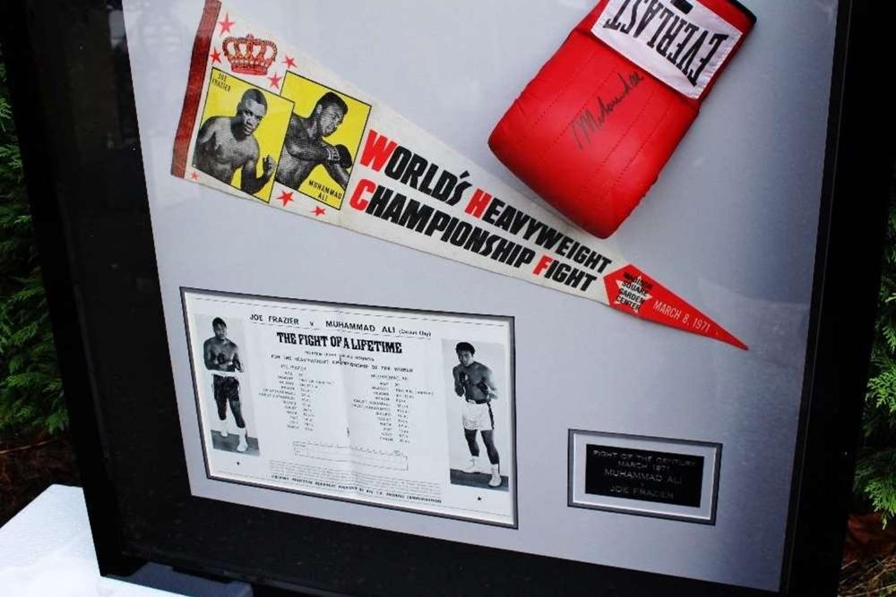 "Muhammad Ali & Joe Frazier Signed Life Magazine ""Fight of The Century"" Montage - Image 2 of 5"