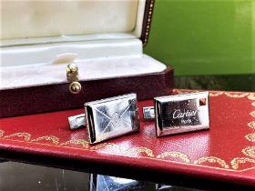 Cartier Vintage Silver Envelope/Letter Cufflinks