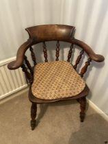 Vintage Captains Bow Chair & Cushion