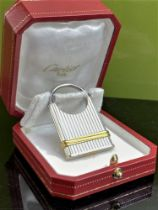 Cartier Vintage Must De Edition Two-Toned Gold & Silver Key Ring / Padlock Edition