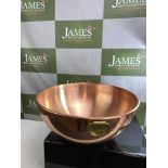 Large Vintage Stamped ODI Copper Mixing Bowl Pot