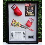 "Muhammad Ali & Joe Frazier Signed Life Magazine ""Fight of The Century"" Montage"