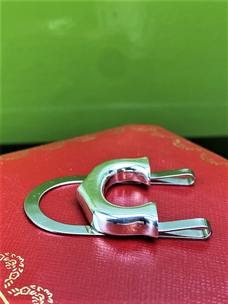 """Cartier 925 Sterling Silver Classic """"C""""Money Clip-Unused Example. - Image 3 of 6"""