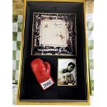 Muhammed Ali Vs Cleveland Williams-Signed 60`s Ring Magazine Photo & Glove Montage