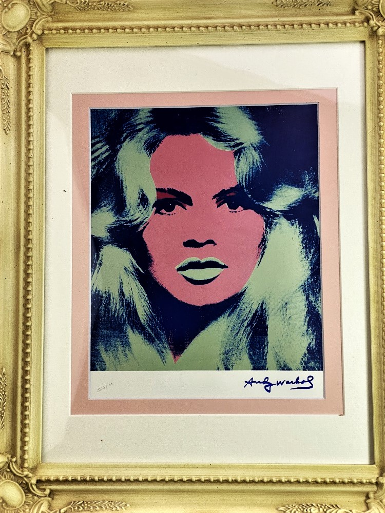 "Andy Warhol 1984 ""Brigitte Bardot"" Lithograph Ltd Edition - Image 2 of 3"