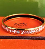 Hermes Orange Gold Monogram Bangle/Bracelet