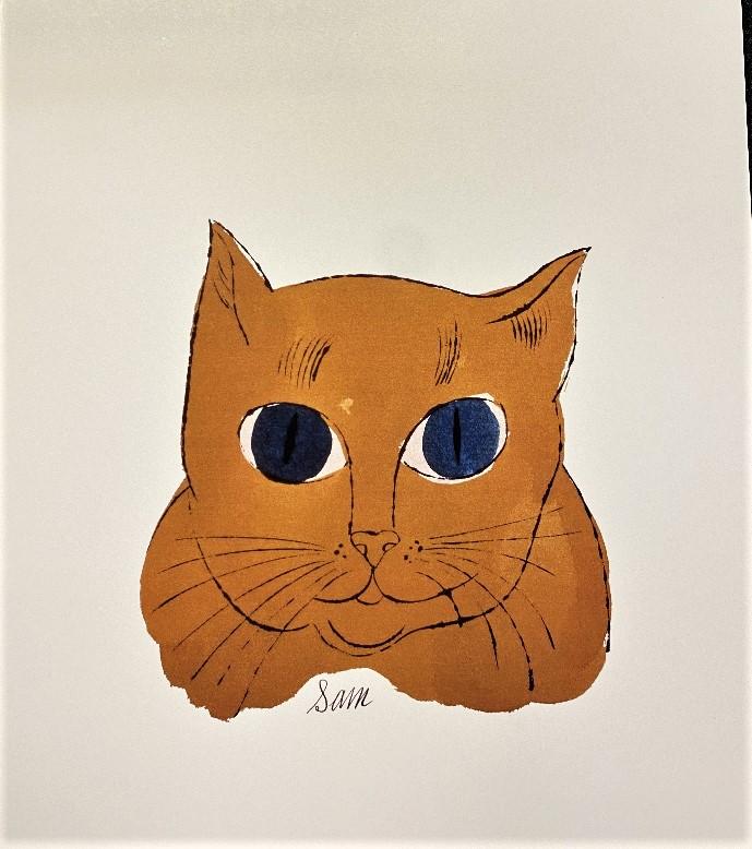 Andy Warhol 'Gold Sam' Lithograph Print/Ornate Framed
