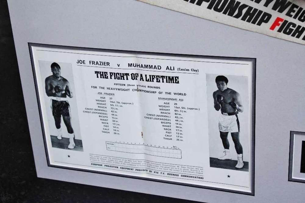 "Muhammad Ali & Joe Frazier Signed Life Magazine ""Fight of The Century"" Montage - Image 5 of 5"