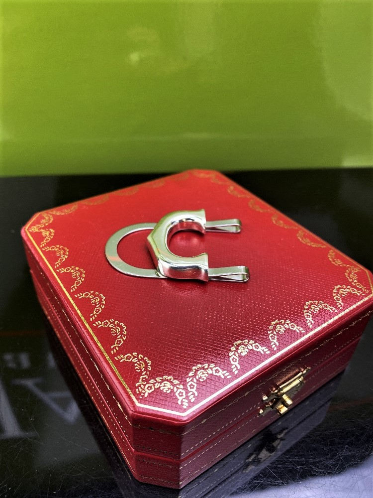 """Cartier 925 Sterling Silver Classic """"C""""Money Clip-Unused Example. - Image 2 of 6"""