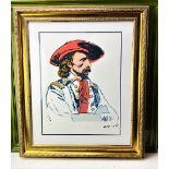 """Andy Warhol (1928-1987) """"General Custer"""" Numbered #51/100 Lithograph, Ornate Framed."""
