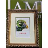 """Andy Warhol 1984 """" Ram"""" Numbered Lithograph, Plate Signed. Ornate framed."""