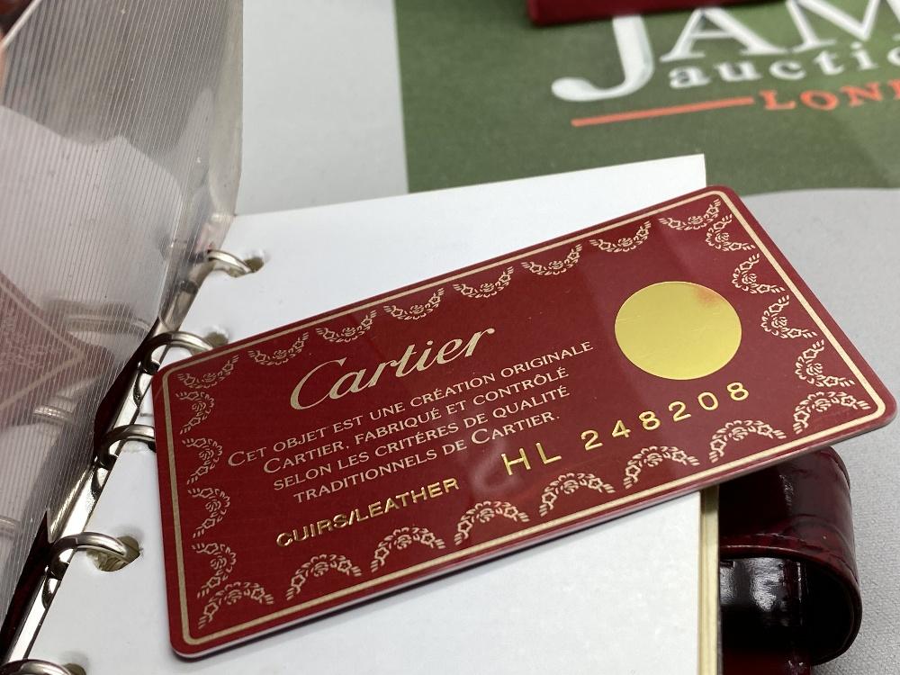 Cartier Paris Gold Leaf Diary/Filofax Ltd Edition - Image 3 of 7