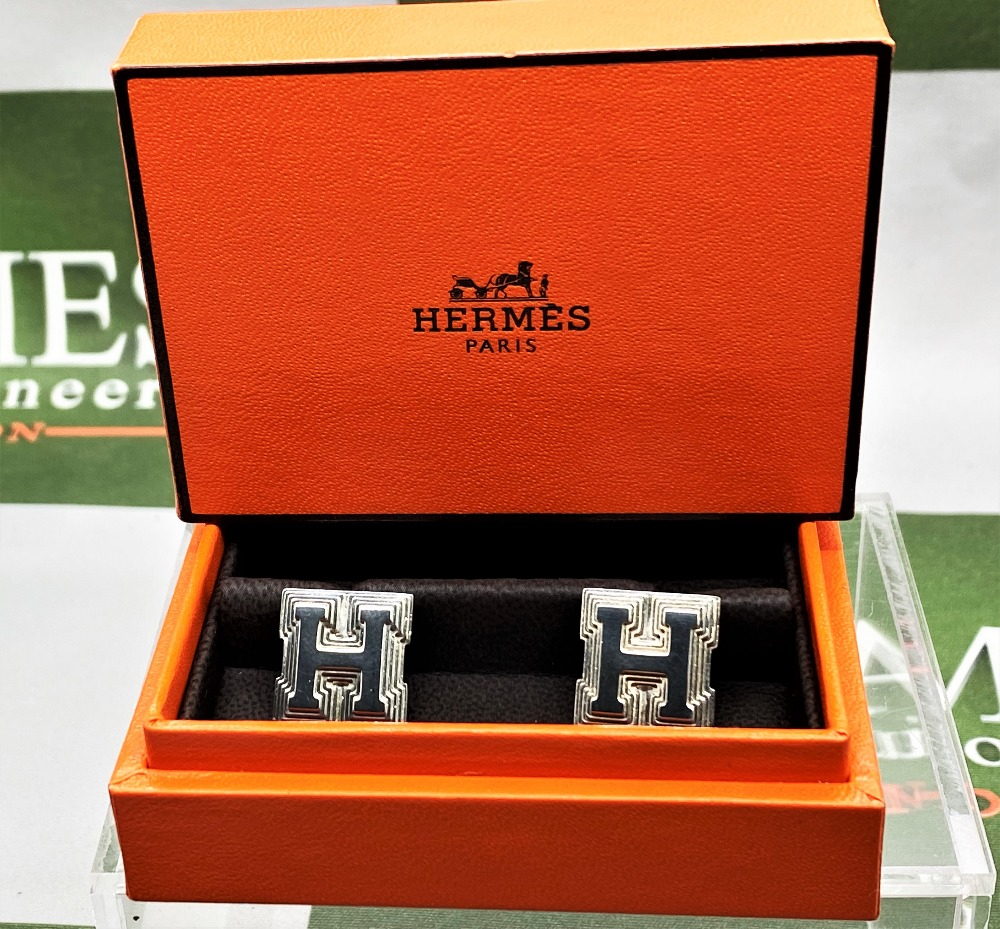Hermes Sterling Silver 925 Cufflinks - Image 2 of 6