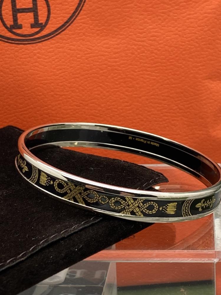 "Hermes ""Fluer De Lis"" Classic Monogram & Silver Bracelet - Image 5 of 6"