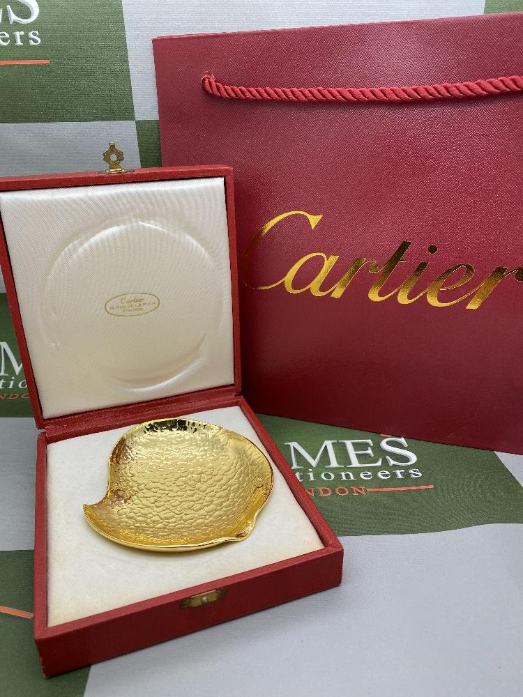 """Cartier Paris -The Cross International Vichy 1970"""" Gold Plated Cased Trophy"""
