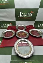Cartier Vintage Sterling Silver And Crystal Drink Coasters