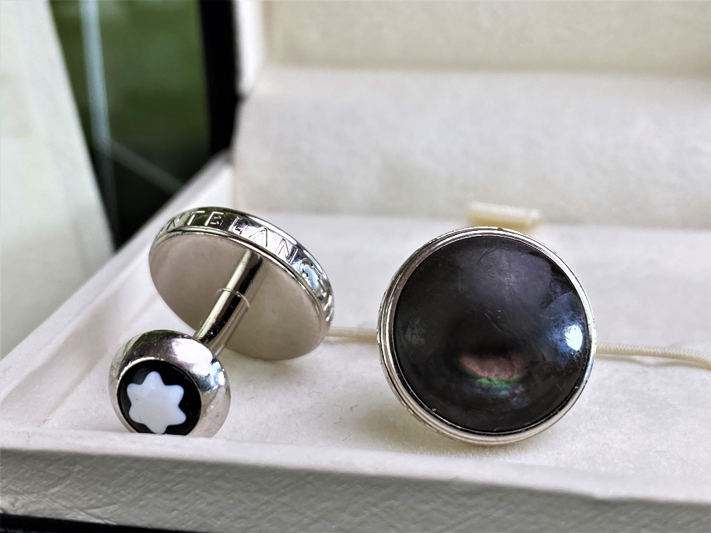Montblanc New Pair of Contemporary Antracite Cufflinks - Image 4 of 4
