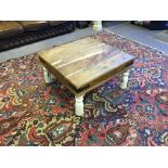 Heavy Oak Table With Farrow & Ball Legs