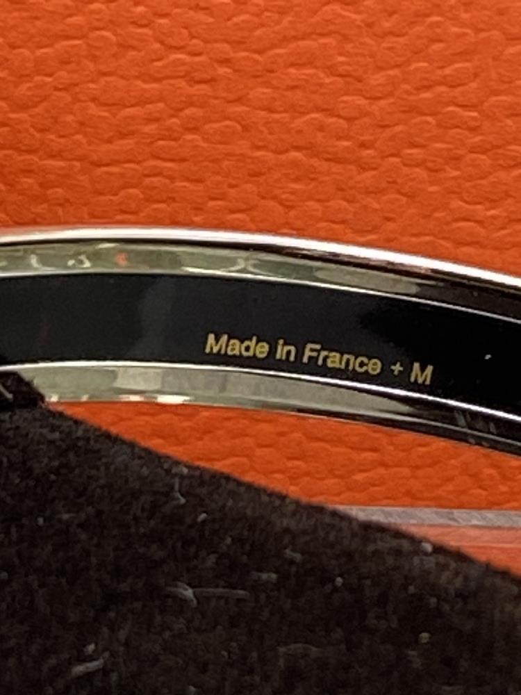 "Hermes ""Fluer De Lis"" Classic Monogram & Silver Bracelet - Image 3 of 6"
