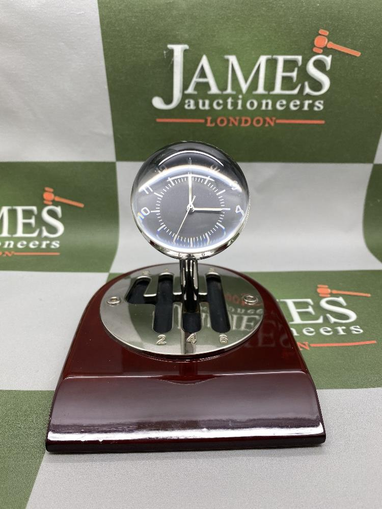 Rare 70th Anniversary 'Codes Rousseau' Table Top Desk Clock Display - Image 5 of 5