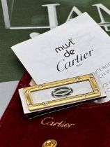 Cartier Paris Santos Edition Gold Plated & Silver Money Clip