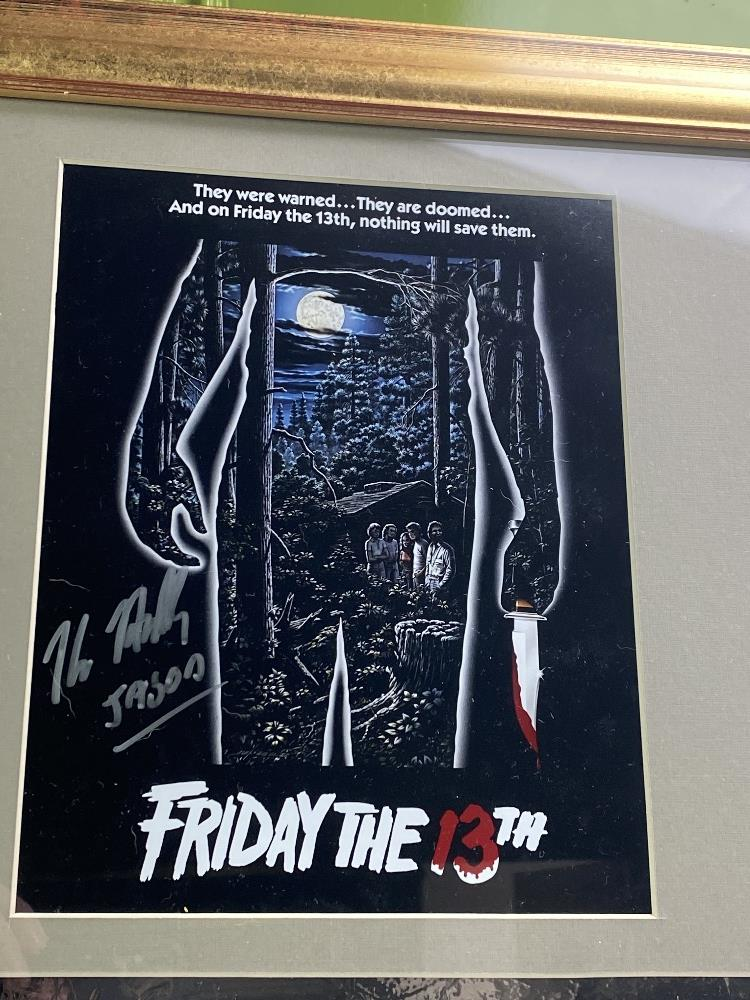 Signed 3D Friday the 13th Jason Display With Mask & Machete led lighting - Image 5 of 6