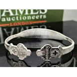 Rolex Silver Bangle Made from Collectors Spoons 25.80g