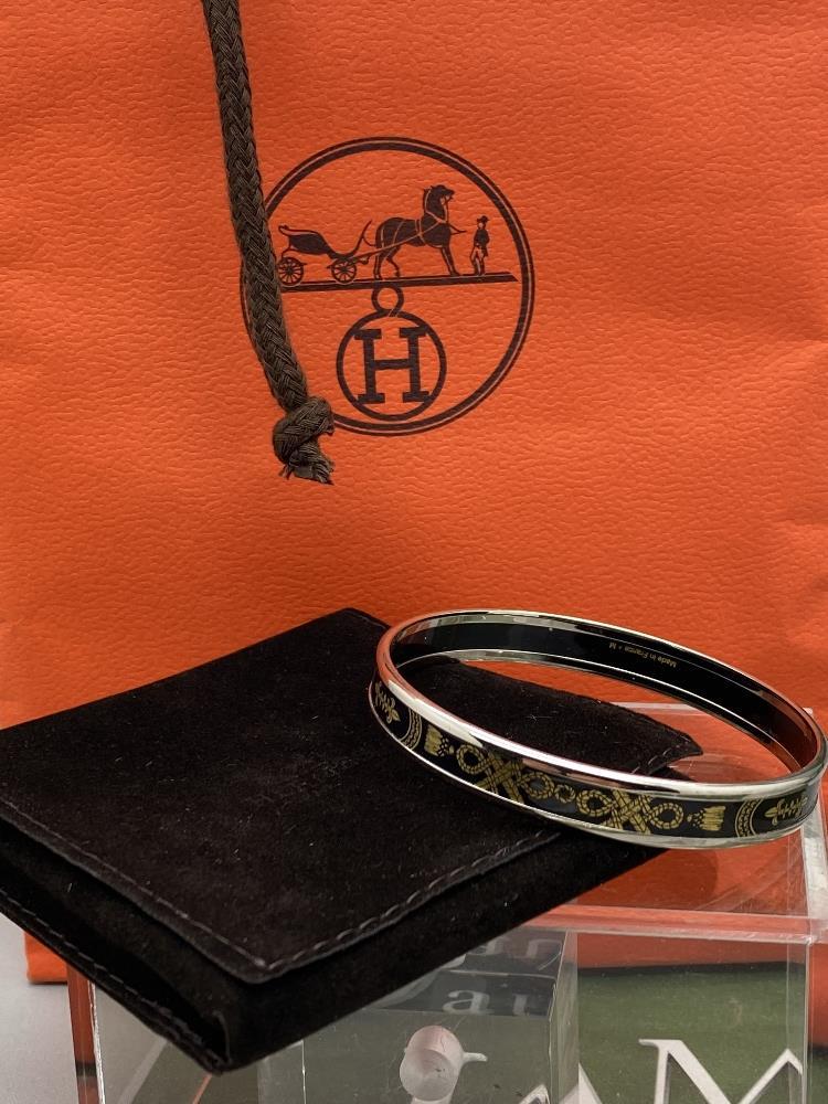 "Hermes ""Fluer De Lis"" Classic Monogram & Silver Bracelet - Image 6 of 6"