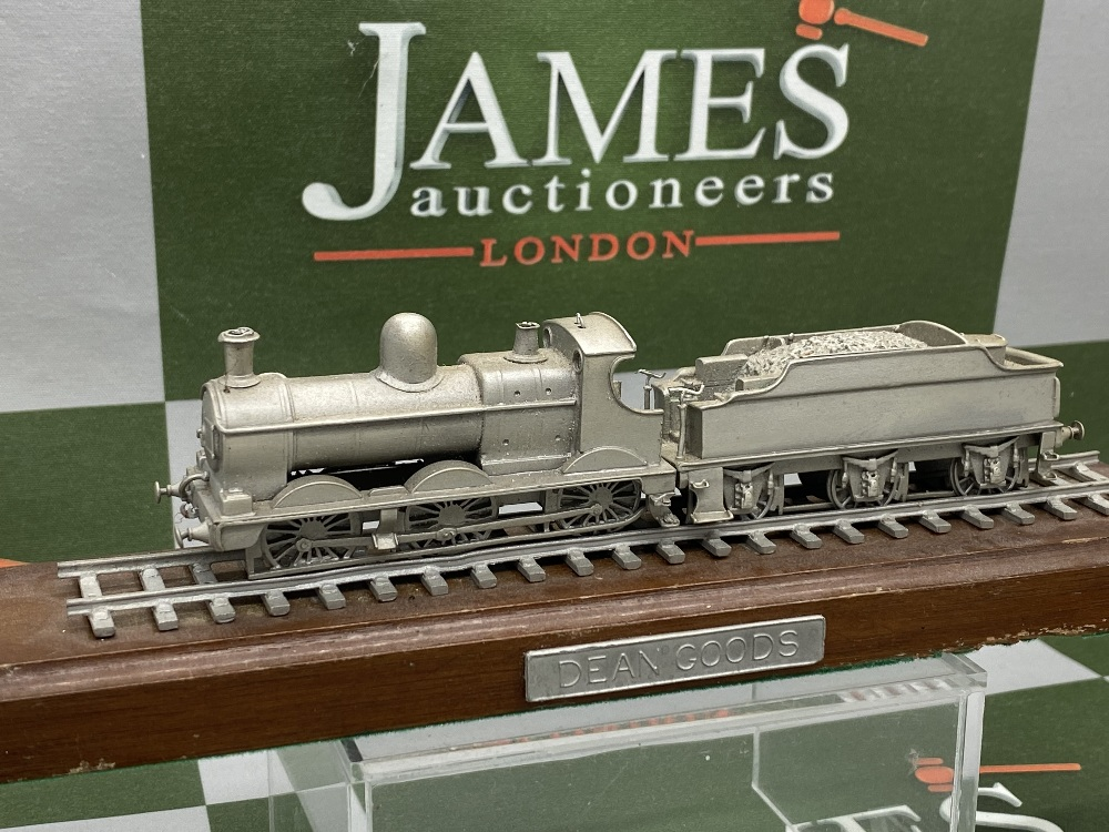 Franklin Mint Worlds Greatest Loco's - Pewter On Wooden Plinth - Dean Goods Edition