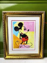 """Andy Warhol (1928-1987) """"Mickey"""" Numbered Lithograph, Ornate Framed."""