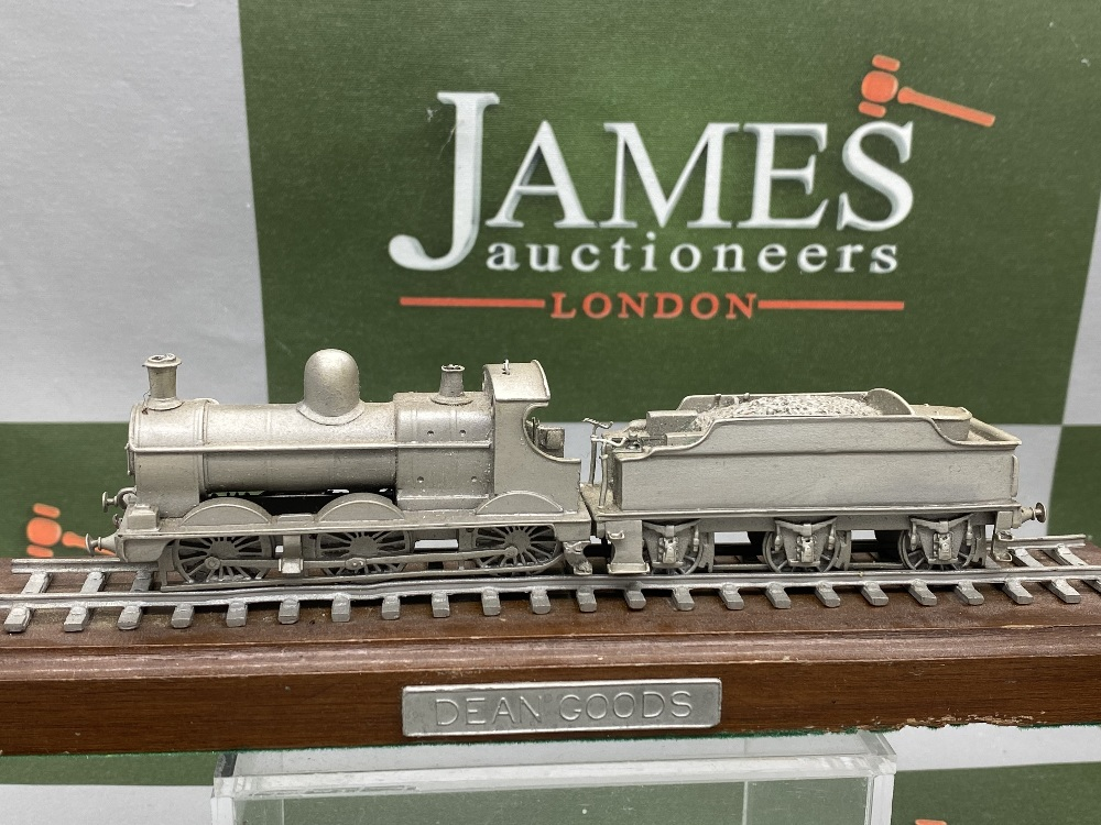 Franklin Mint Worlds Greatest Loco's - Pewter On Wooden Plinth - Dean Goods Edition - Image 4 of 5
