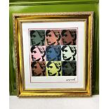 """Andy Warhol (1928-1987) """"Warhol Self Portrait x 4"""" Numbered #15/100 Lithograph, Ornate Framed."""