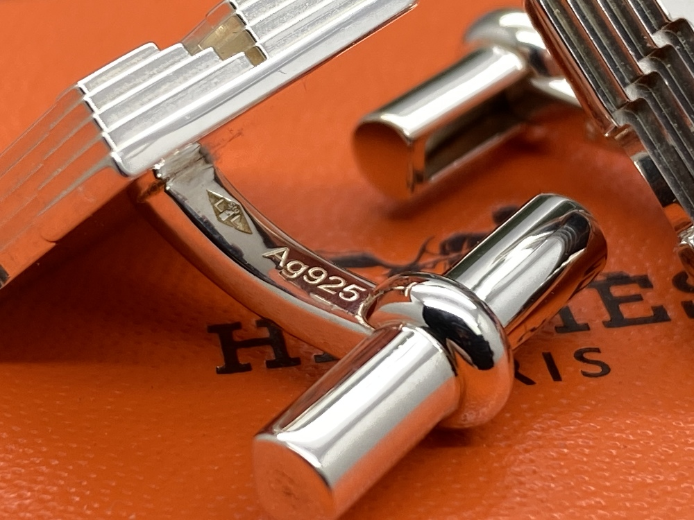 Hermes Sterling Silver 925 Cufflinks - Image 6 of 6