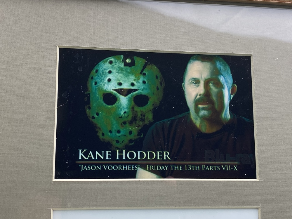 Signed 3D Friday the 13th Jason Display With Mask & Machete led lighting - Image 3 of 6