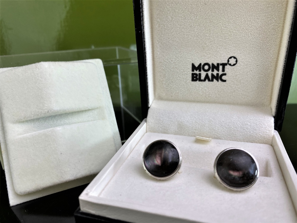 Montblanc New Pair of Contemporary Antracite Cufflinks - Image 3 of 4