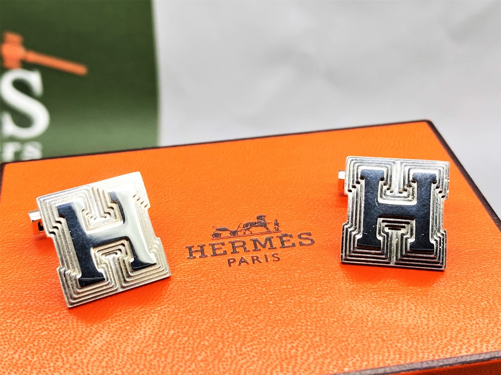Hermes Sterling Silver 925 Cufflinks - Image 4 of 6
