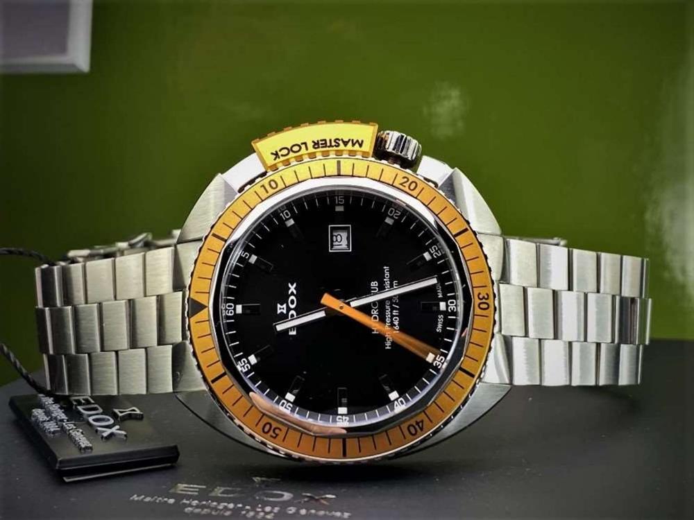Edox Hydro Sub Mens Swiss Quartz 500m Dive Watch - Image 9 of 11