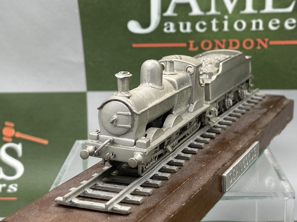 Franklin Mint Worlds Greatest Loco's - Pewter On Wooden Plinth - Dean Goods Edition - Image 5 of 5