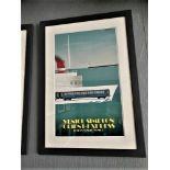 """Fix Masseau """"Orient Express """" Framed 1985 Lithograph-Ltd Edition of 200"""