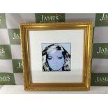 "Andy Warhol ""Blondie"" 1987 Ltd Edition Lithograph, Ornate Framed"